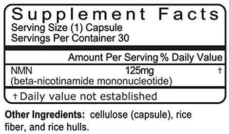 NMN supplement facts