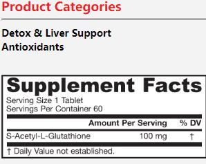 Acetyl Glutathione supplement