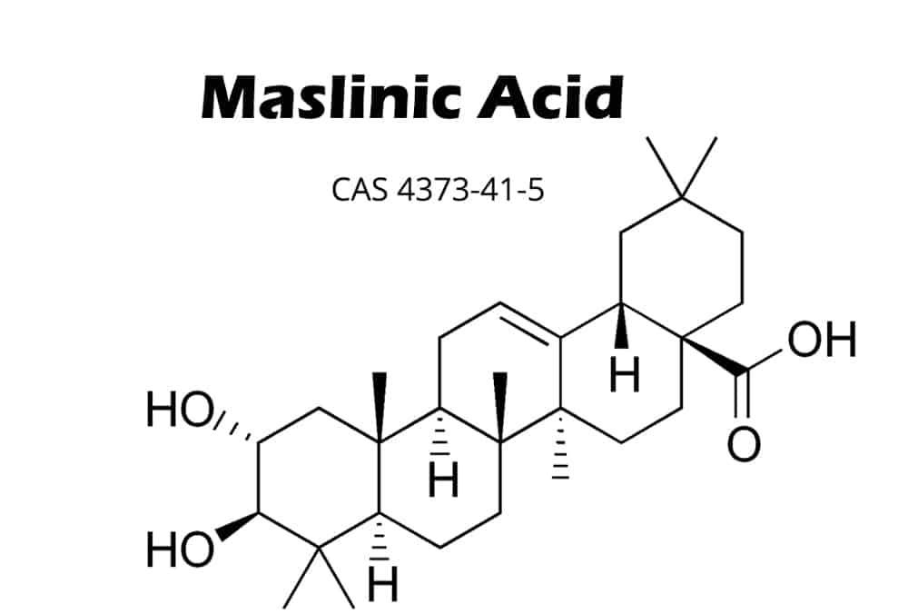 chemical structure of maslinic acid