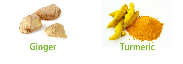 Ginger and turmeric comparison
