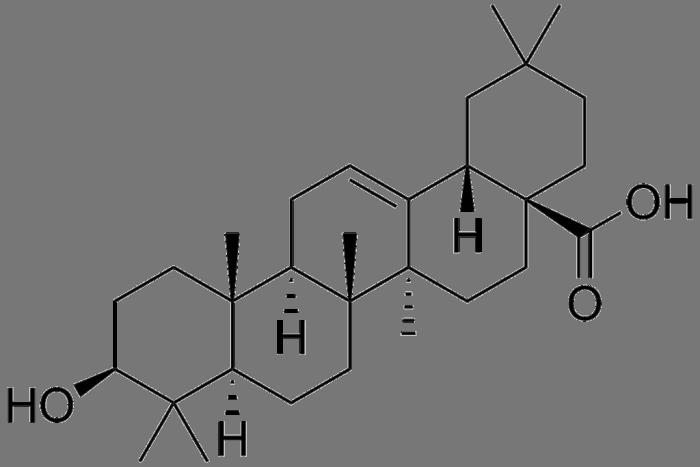 Oleanolic acid structure