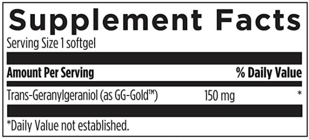 Annatto GG supplement formula with geranylgeraniol