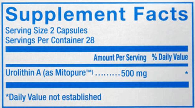Urolithin A supplement formula